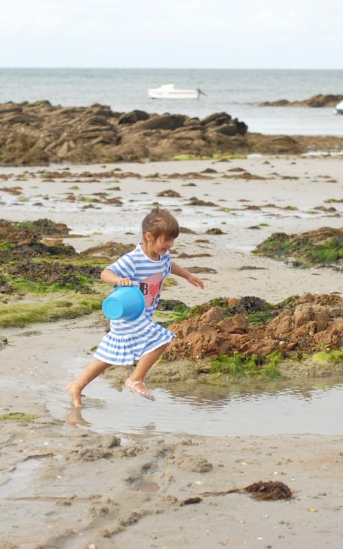 Les blogokids en summer look: Rayure et pois à l'ile d'yeu