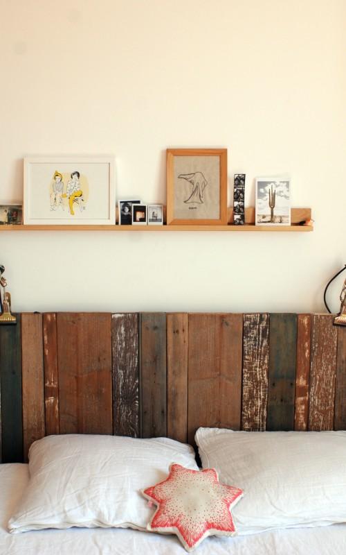 La jolie meulière, l'avant/après de la chambre des parents